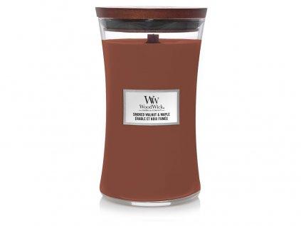 Svíčka oválná váza WoodWick Kouřový vlašský ořech & javor 609.5 g