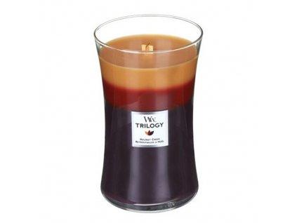 Svíčka Trilogy WoodWick Sváteční radost, 609,5 g