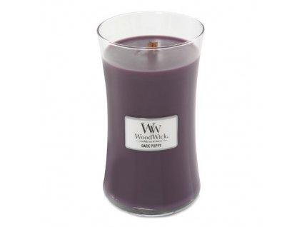 Svíčka Woodwick Tmavý mák, 609.5 g