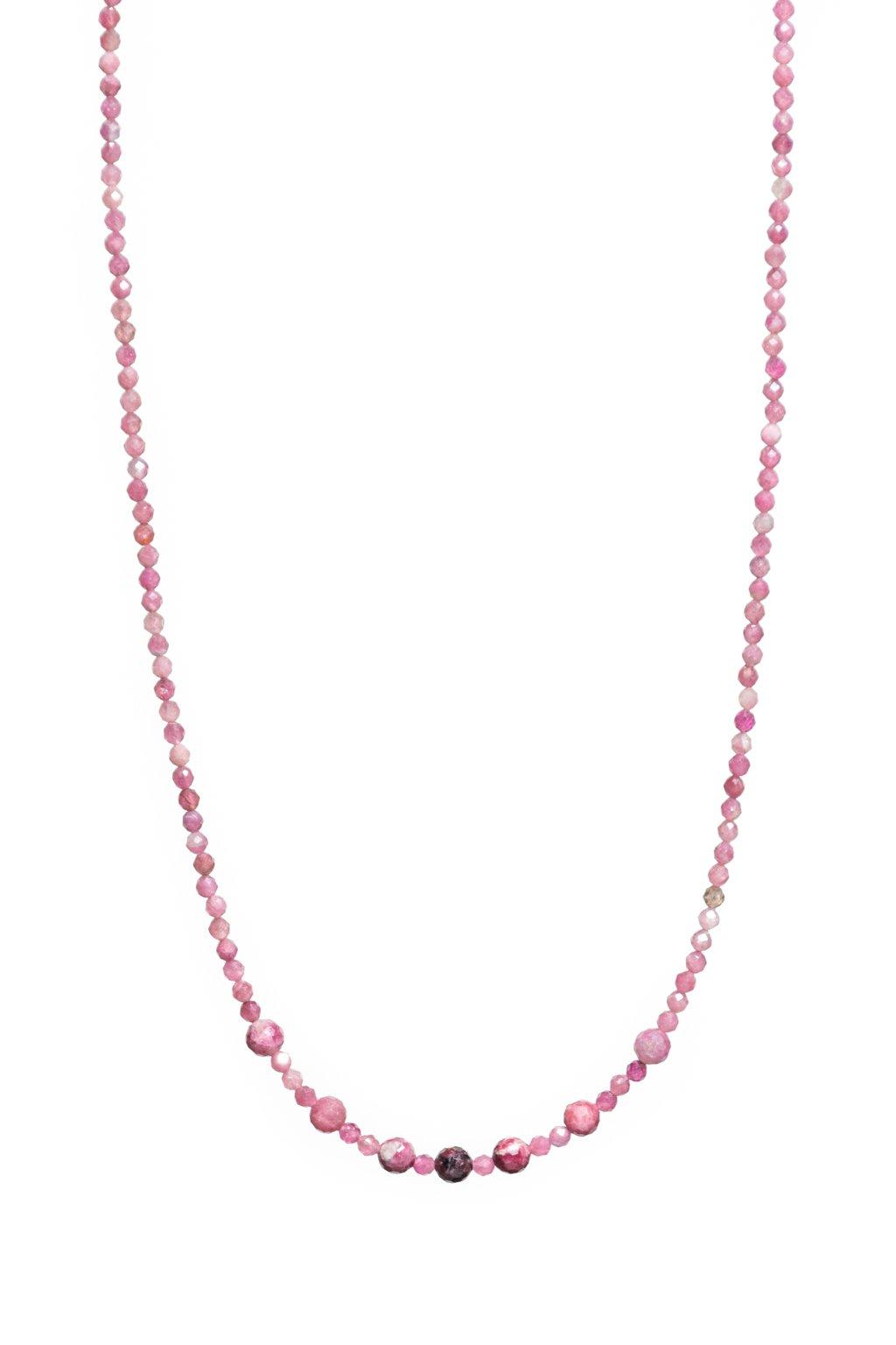 Dámsky náhrdelník z turmaínu (rubelit)