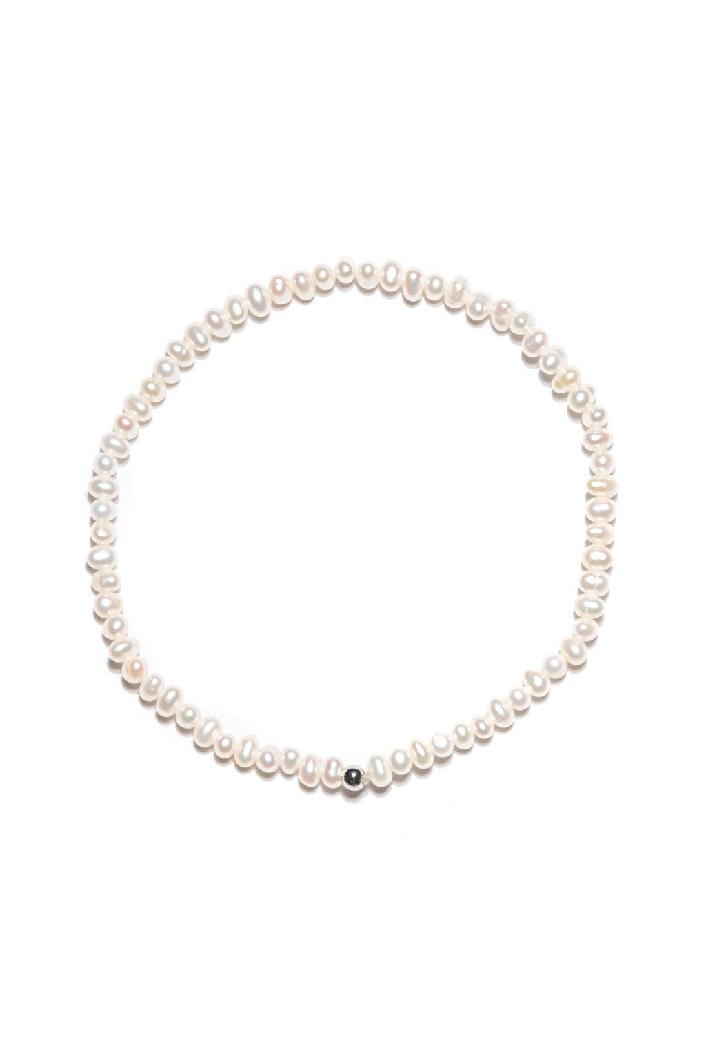 131 Jemnulinký náramok riečna perla