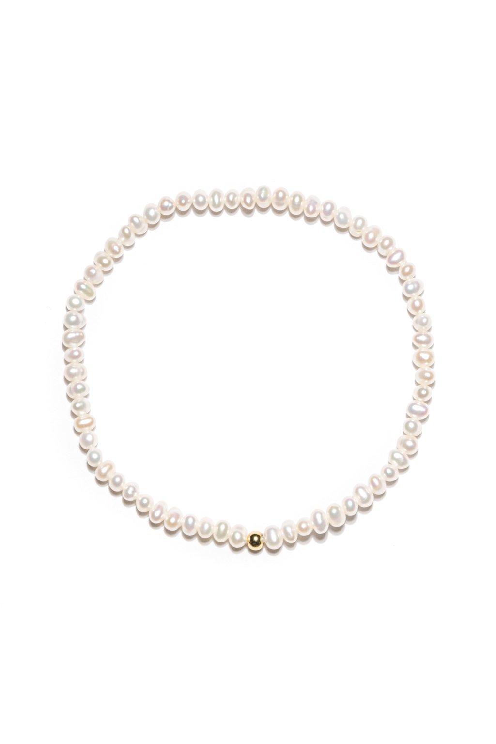132 jemnulinký náramok riečna perla gold