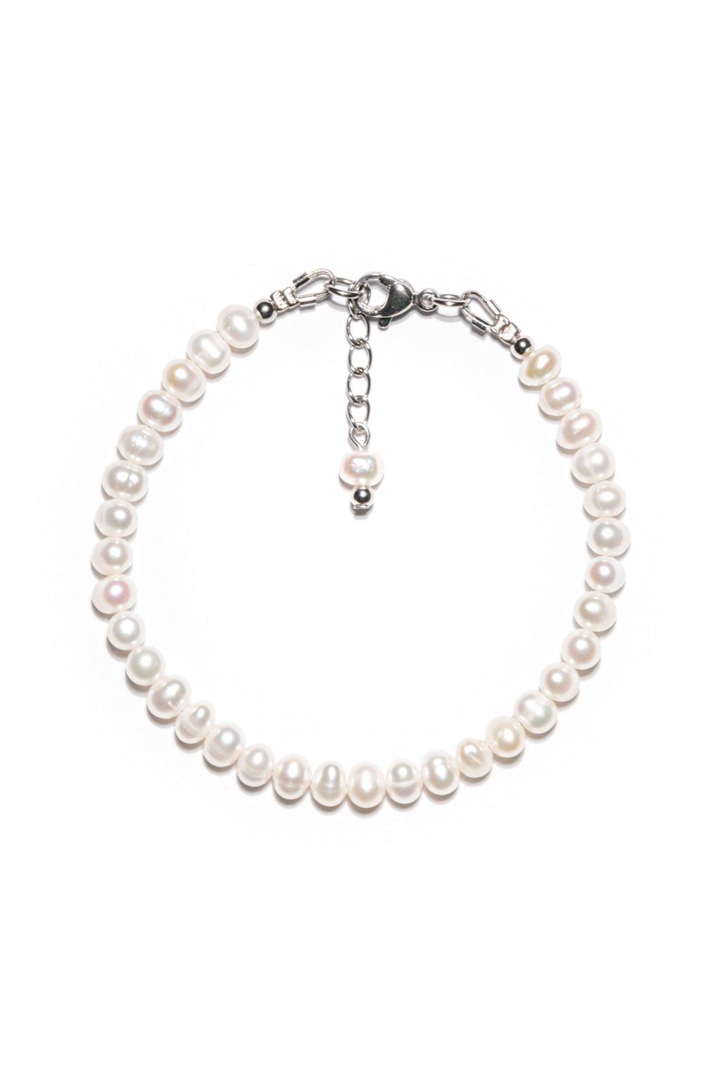 135 Náramok riečna perla mini s karabínkou