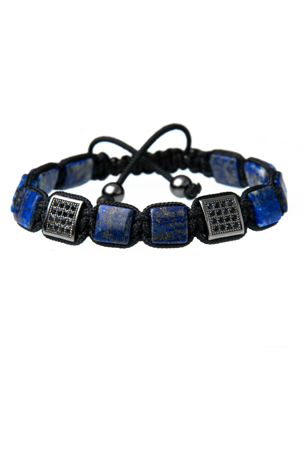 plochi pánsky naramok z mineral lapis lazuli
