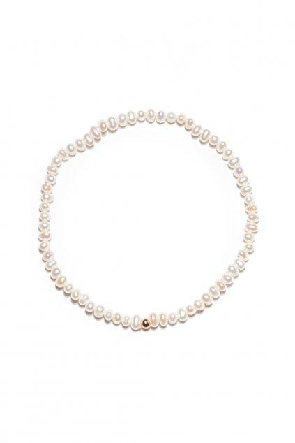 133 jemnulinký náramok riečna perla rosegold