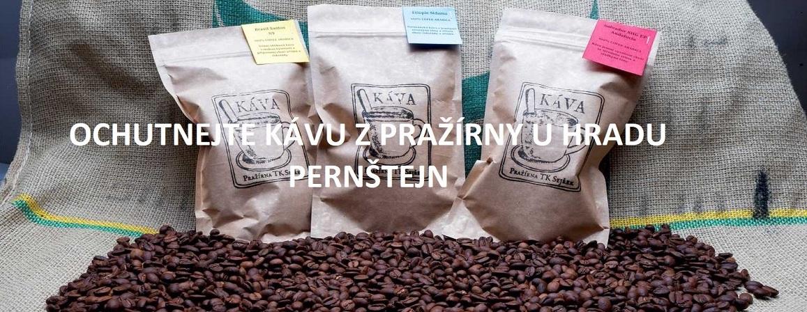 Káva z pražírny u Hradu Pernštejn
