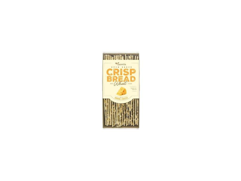 Křehké pšeničné plátky s Gouda sýrem 130g Danvita