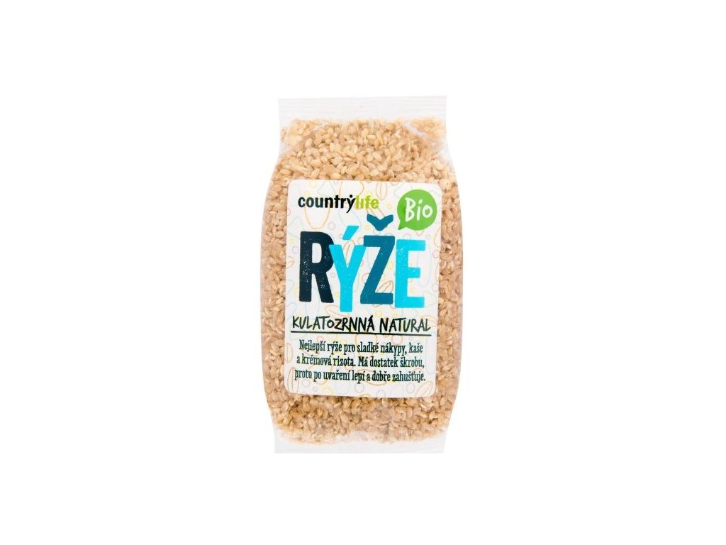 Rýže kulatozrnná natural BIO 500g CL