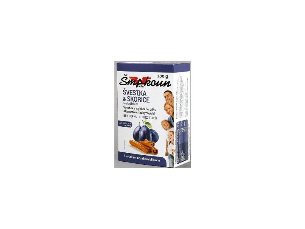Šmakoun švestka skořice se sladidlem 200g