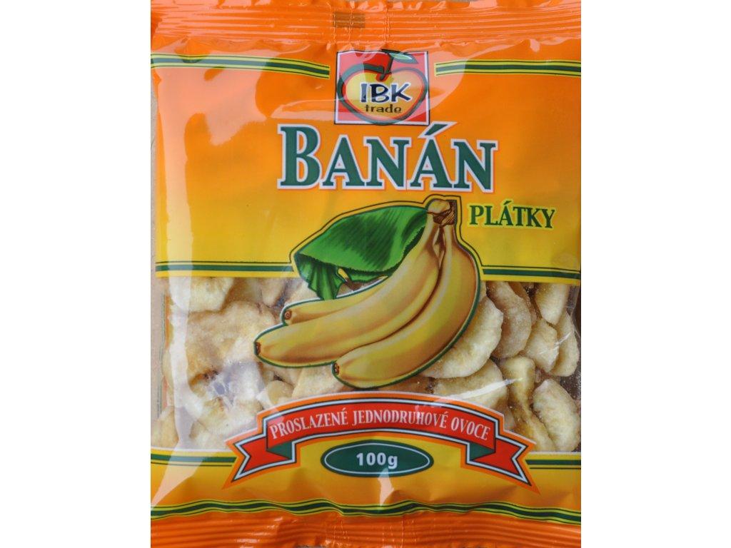 Banánové plátky medové 100g IBK Fyton