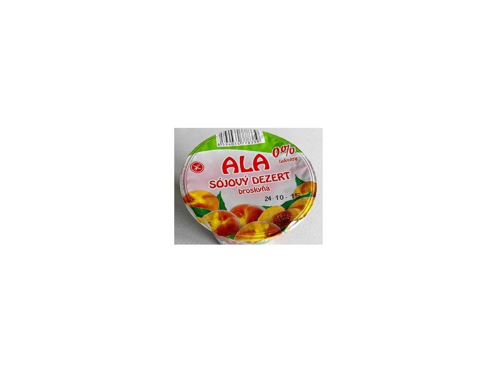Sójový dezert broskev ALA 0% laktózy 135g
