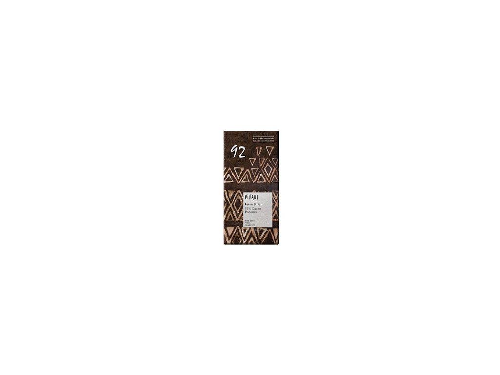 Čokoláda Vivani BIO hořká s kokosový cukr 92%  80g