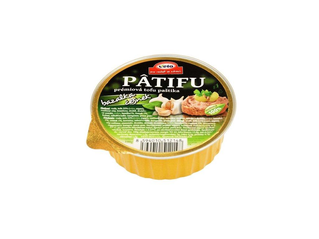 Paštika Patifu bazalka česnek100g