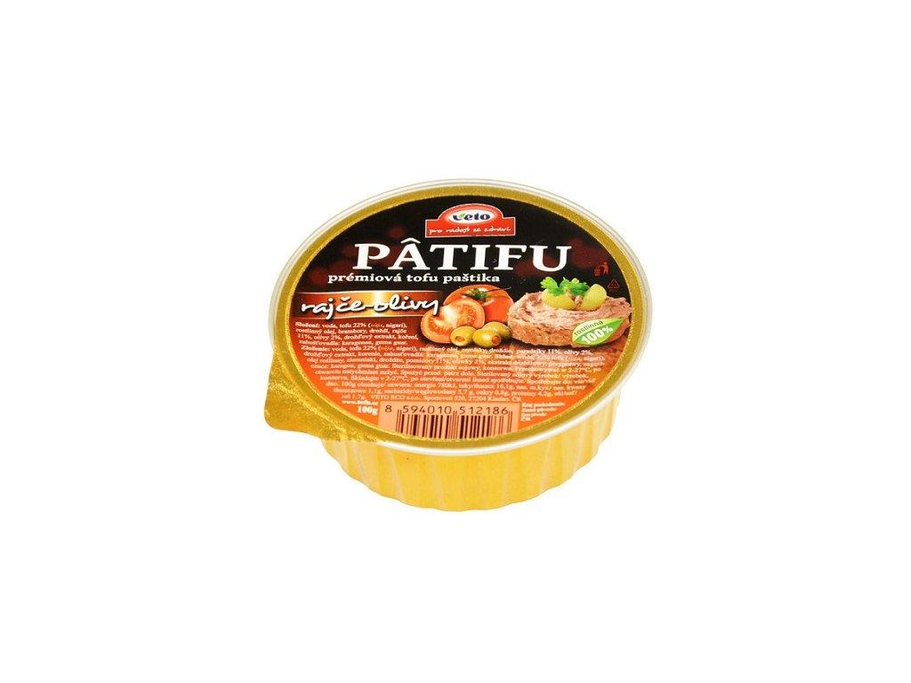Paštika Patifu rajče-olivy 100g