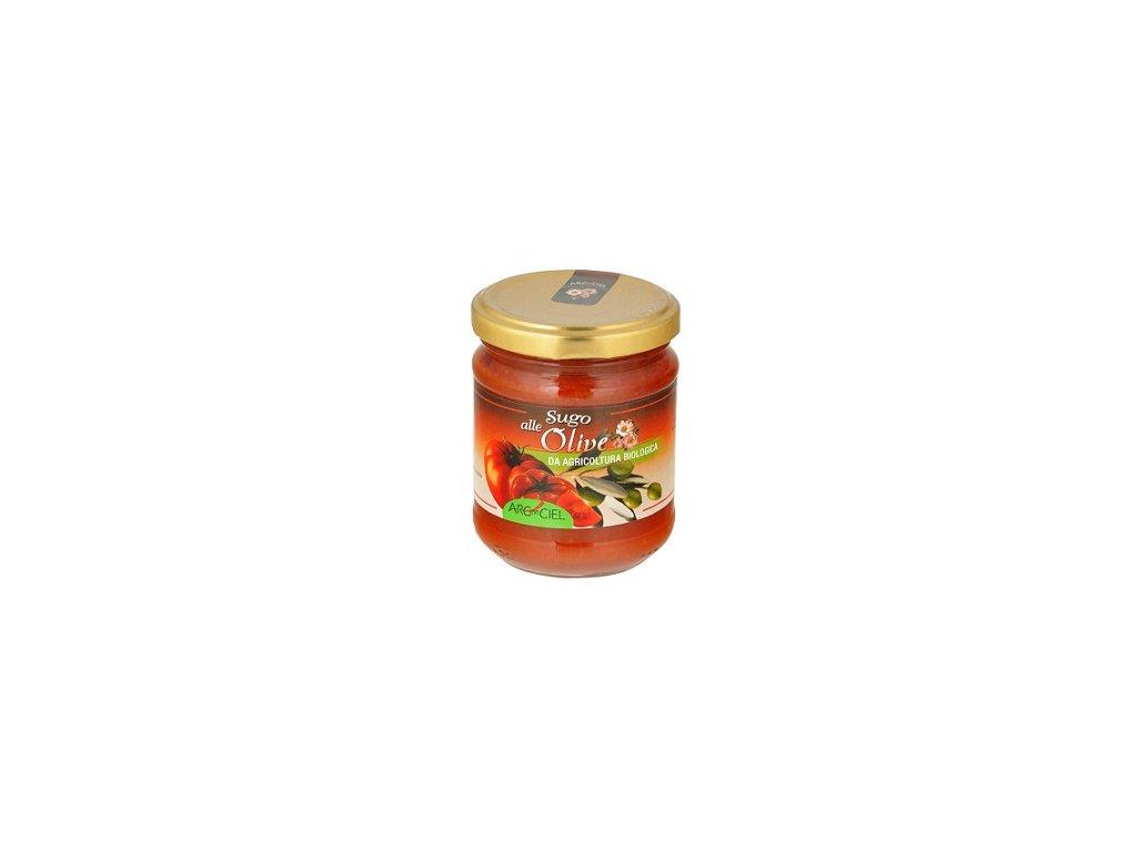 Omáčka rajčatová s olivami BIO 190g CL