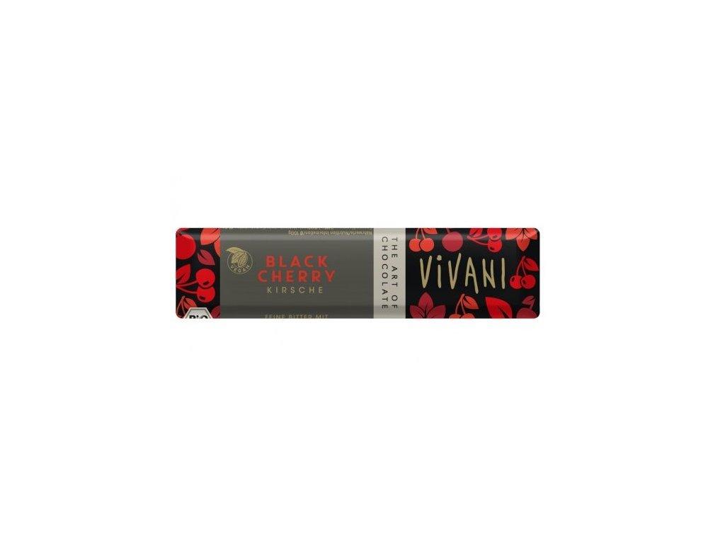 Čokoládová tyčinka VIVANI hořká s višní BIO 35g