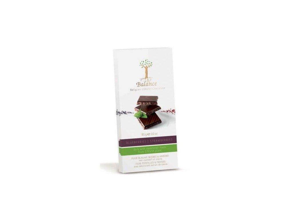 HL - Čokoláda Balance Stevia hořká borůvky jahody