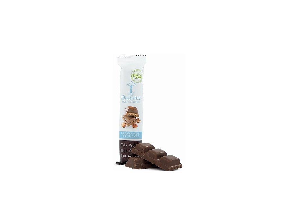 HL - Čokoláda Balance stevia  mléčná pralinka 35g