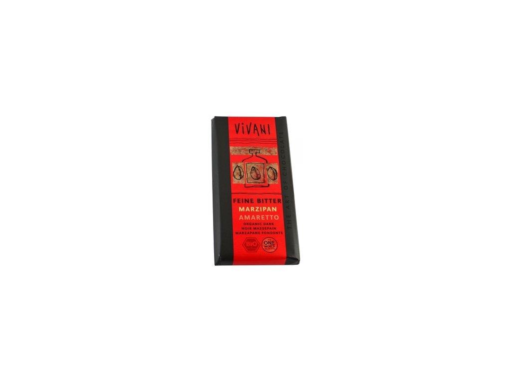 Čokoláda Vivani hořká marcipán amaretto BIO 100g