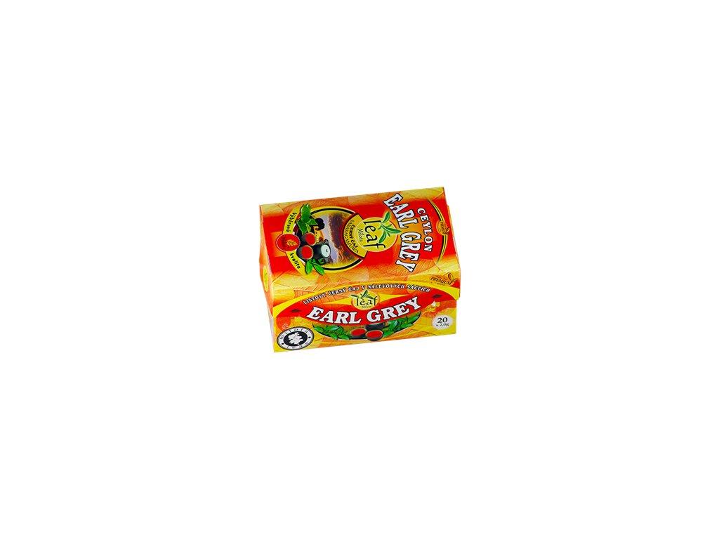 Mil - Černý čaj listový Ceylon EARLGREY 20x2g porc