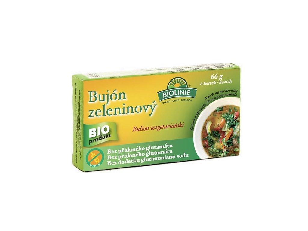 Bujón zeleninový 6x0,5l BIO kostky 66g