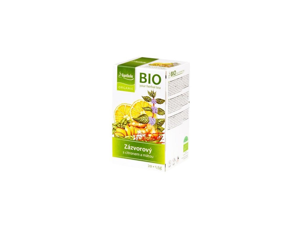 Zázvorový čaj BIO porc., citron, máta 30g