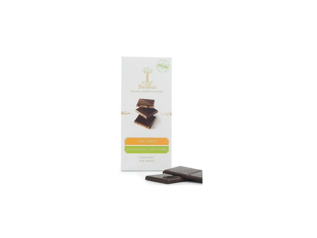 HL - Čokoláda Balance Stevia hořká  pomeranč 85g