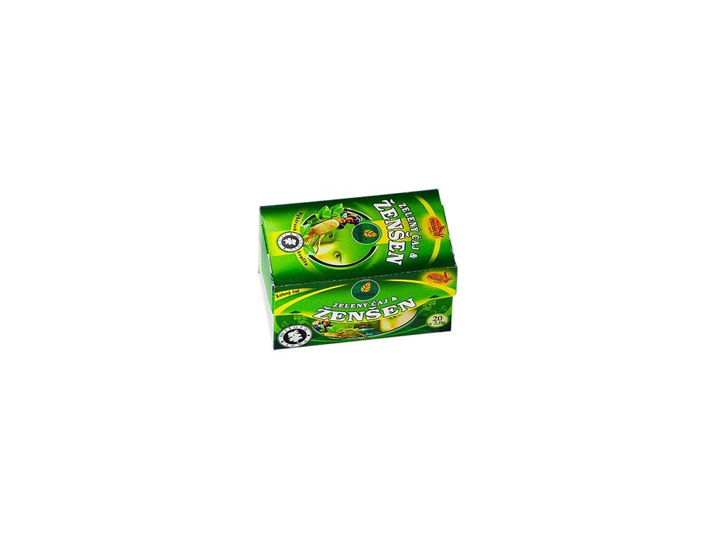 Mil - Zelený čaj Ženšen 40g porcovaný