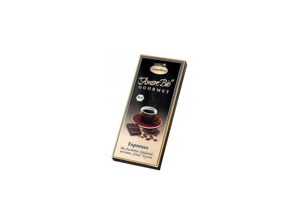 Čokoláda hořká espresso Liebharts 100g PB