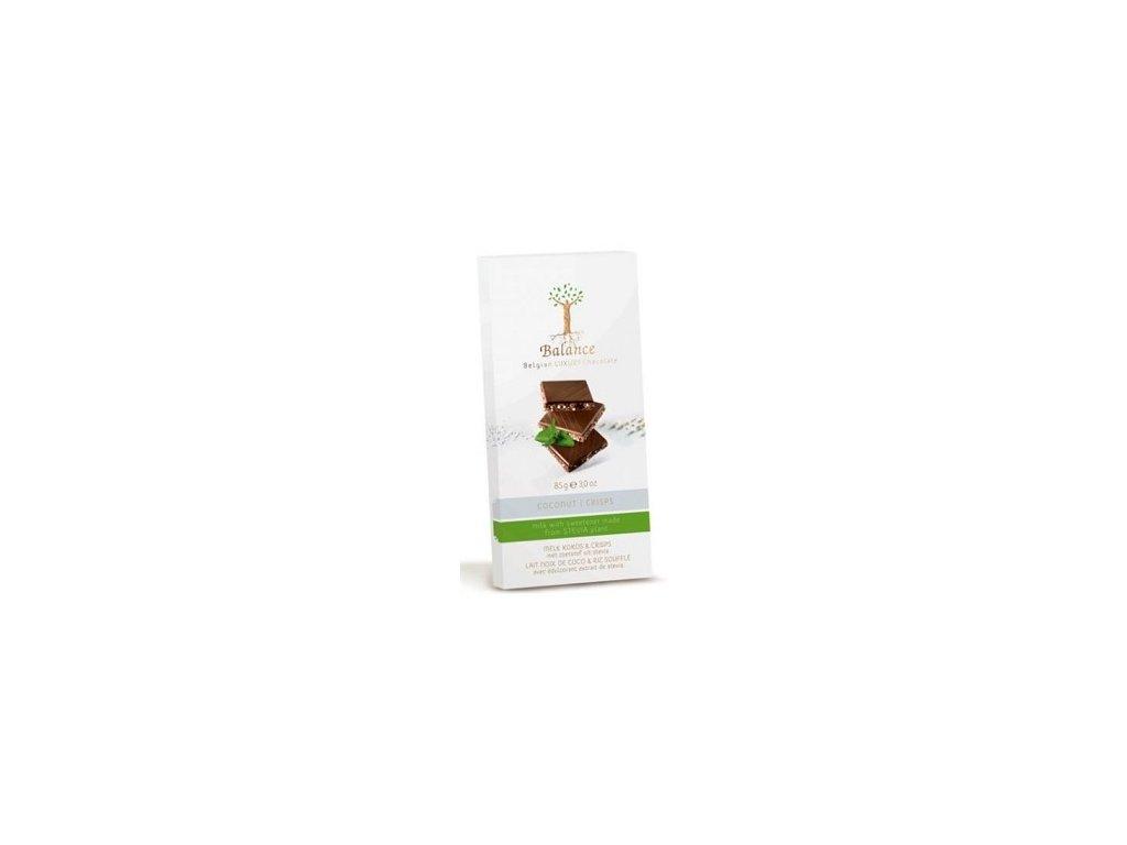 HL - Čokoláda Balance s kok.a křupinkam Stevia 85g