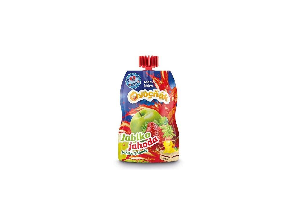 Ovocňák šťáva 200ml jablko-jahoda 100% 200ml