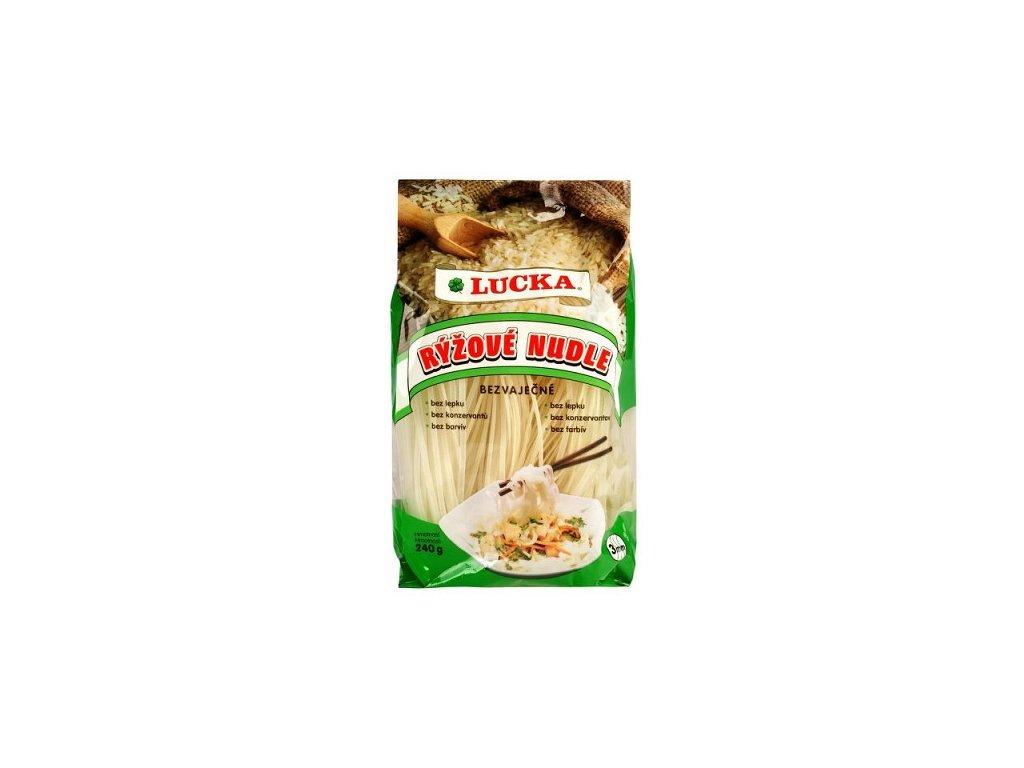 Nudle rýžové 3mm 240g Lucka