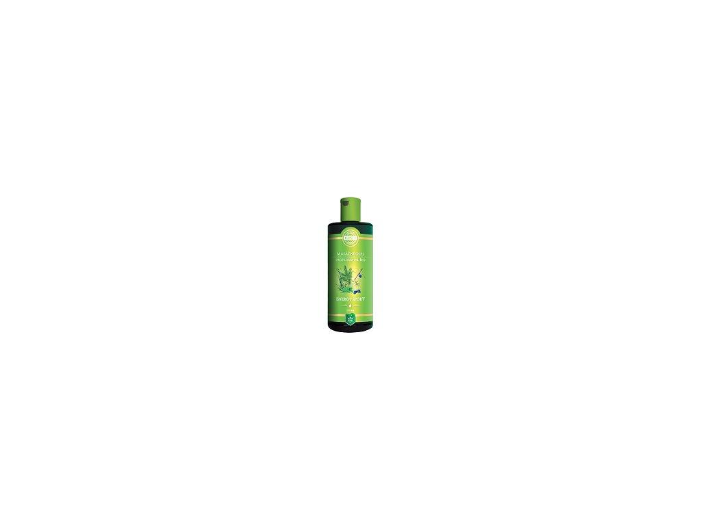 Top - Zelená - masážní olej  Energy sport 200ml
