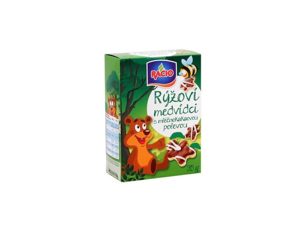 Rýžoví medvídci s čoko 35g Racio