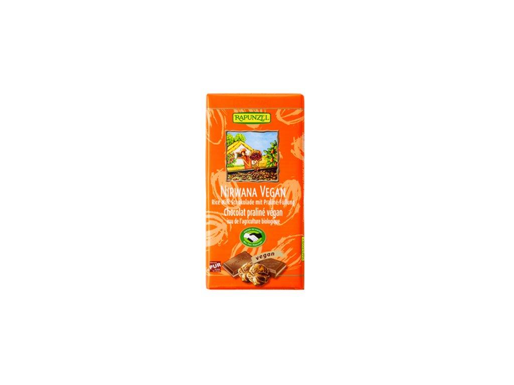 Čokoláda vegan rýžová Nirwana oranž. 100g Rapunzel