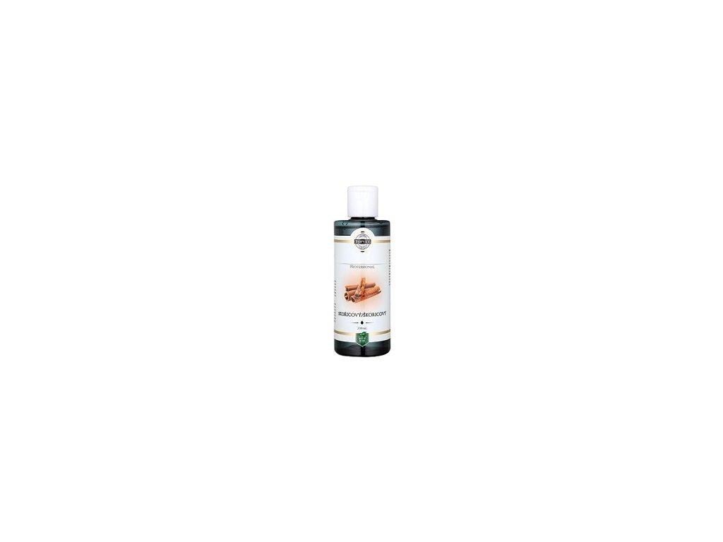 Top - Bílá - masážní olej skořicový 200m