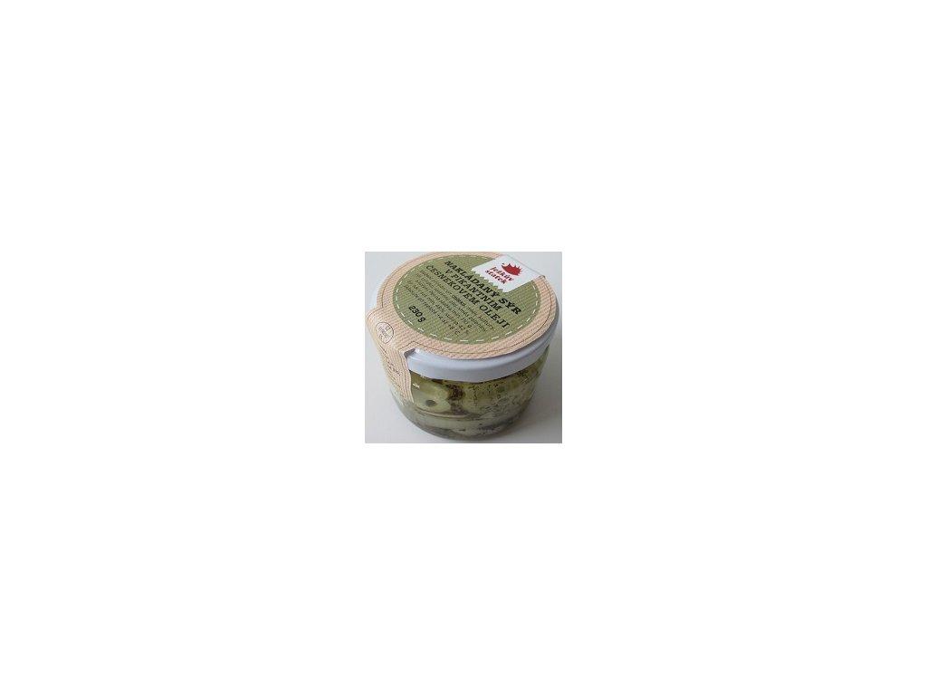 JS - Sýr nakládaný v česnekovém oleji 230g