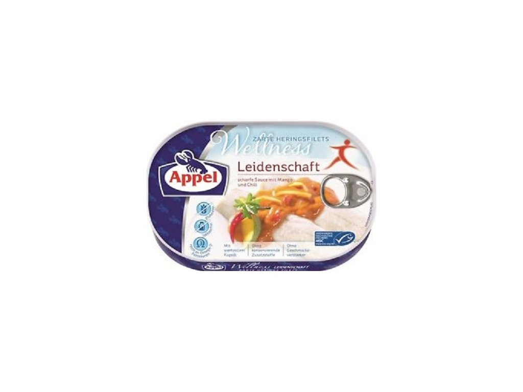 Rybí konzerva-Sleď Leidenschaft 200g Appel