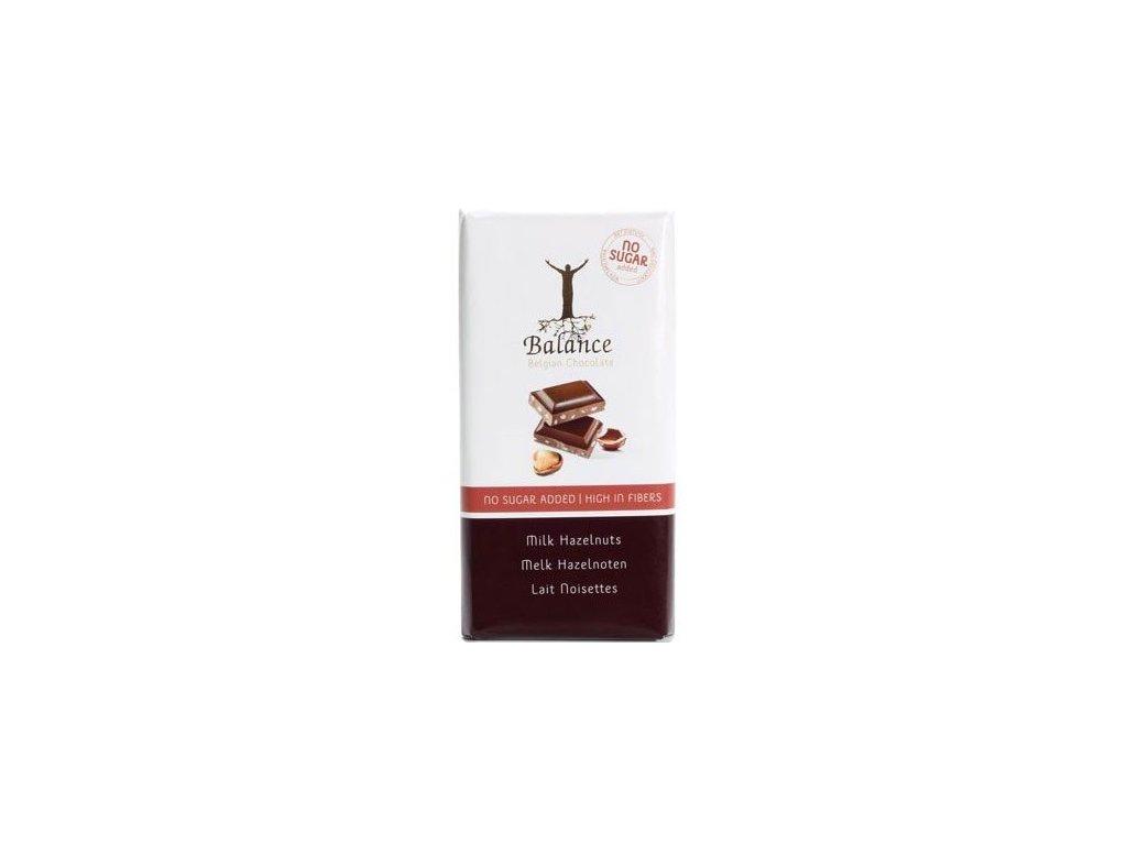 Čokoláda Balance mléčná s lísk. oř. bez cukru 100g