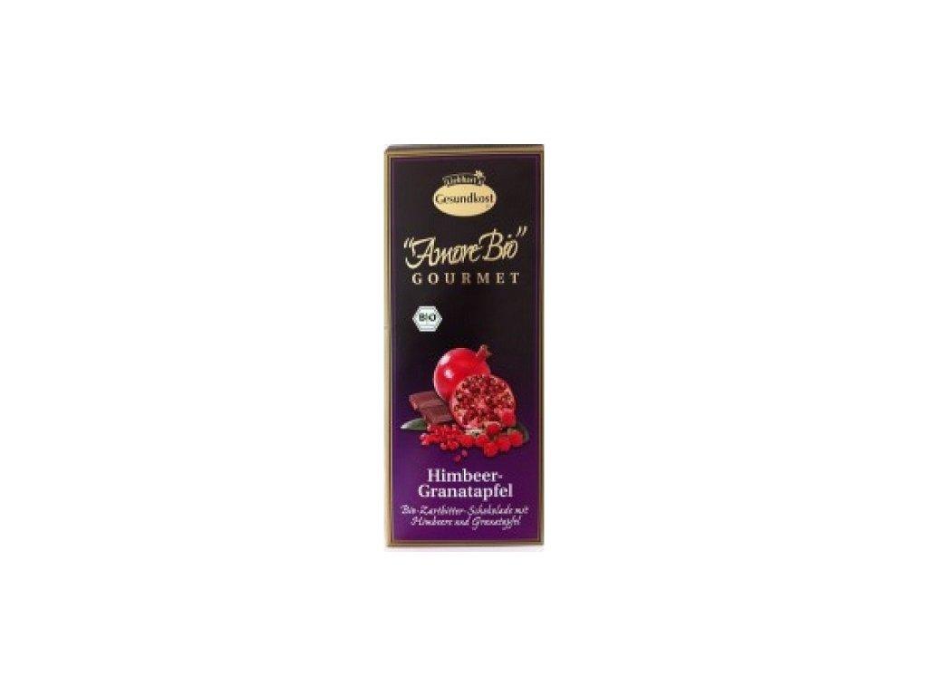 Čokoláda hořká s malinami a granát. jab100g PB