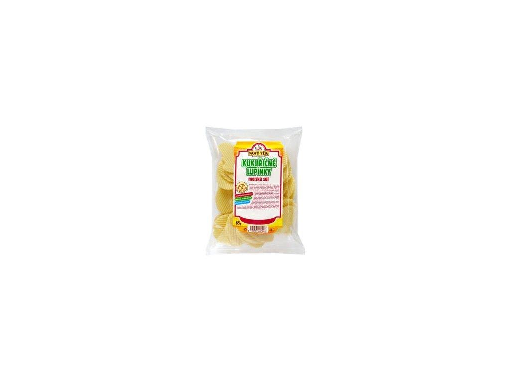 Lupínky kukuřičné  bezl. mořská sůl 65g Racio