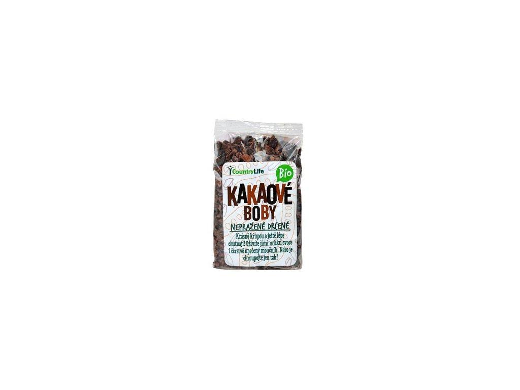 Kakaové boby nepraž. drcené 100g BIO CL