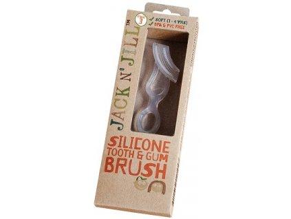 Jack - Silikonový kartáček na zuby a dásně
