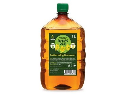 Olej řepkový 1l jednodruhový JK Oils