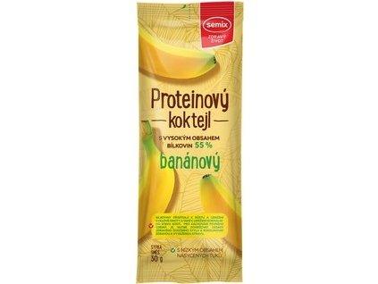 Kokteil banánový proteinový Semix 30g