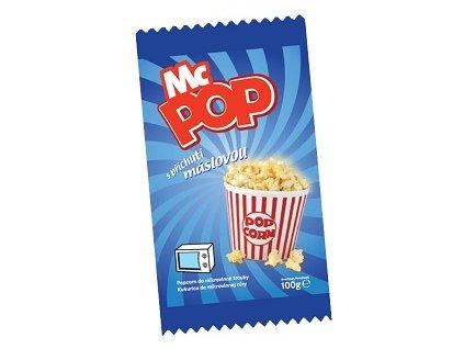 Popcorn s máslovou příchutí 100g McPOP