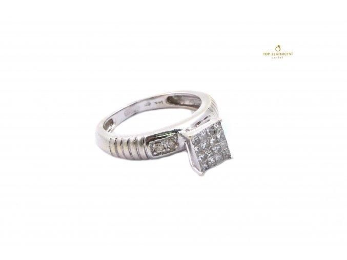 Zlatý prsten s diamanty 3.70g
