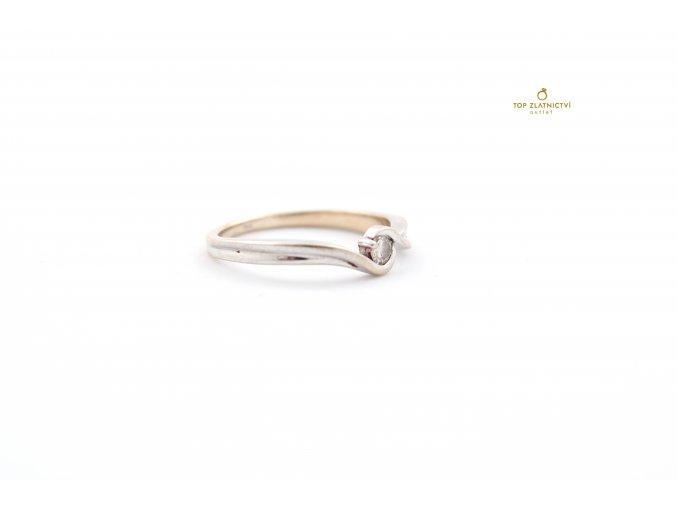 Zlatý prsten s diamantem 2.11g