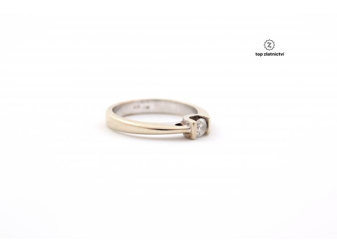 Zlatý prsten s diamantem 3.31g