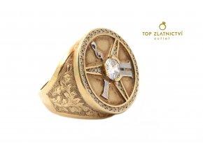 Zlatý prsten s diamanty 18.66g